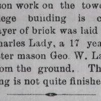 Star & Sentinel, December 25, 1888.