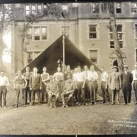 World War One Officers in front of McKnight Hall, courtesy of the Adams County Historical Society.