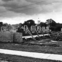 Stine Hall under construction, about 1955, courtesy of the Adams County Historical Society.