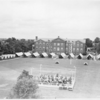 Huber Hall in 1938 during the 75th Anniversary of the Battle of Gettysburg. Courtesy of the Adams County Historical Society.
